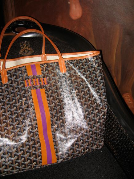 Goyard personalized tote. Everyone in NYC has one. So I need one in small town Medina!