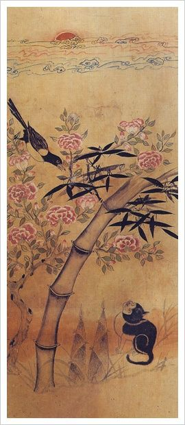 The cat and the mockingbird | Joseon Dynasty, Korea