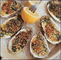 Spicy baked oysters with caramelized onions: Recipe from Frank Stitt's Southern Table.