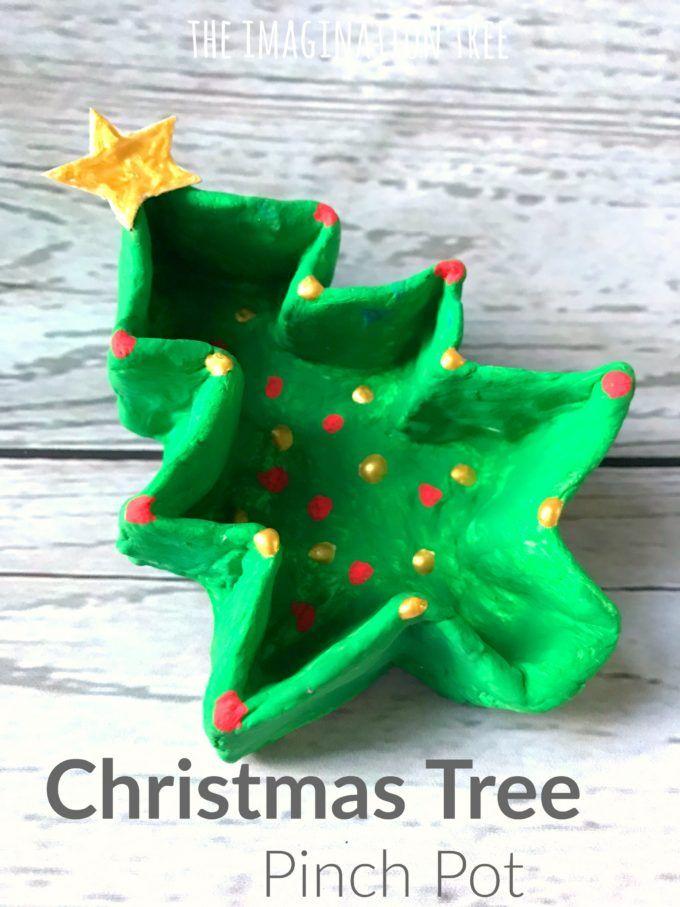Christmas Tree Pinch Pot Craft