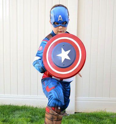 DIY Captain America shield from a garbage can lid // Amerika kapitány pajzs házilag fém kukafedőből // Mindy - craft tutorial collection // #crafts #DIY #craftTutorial #tutorial
