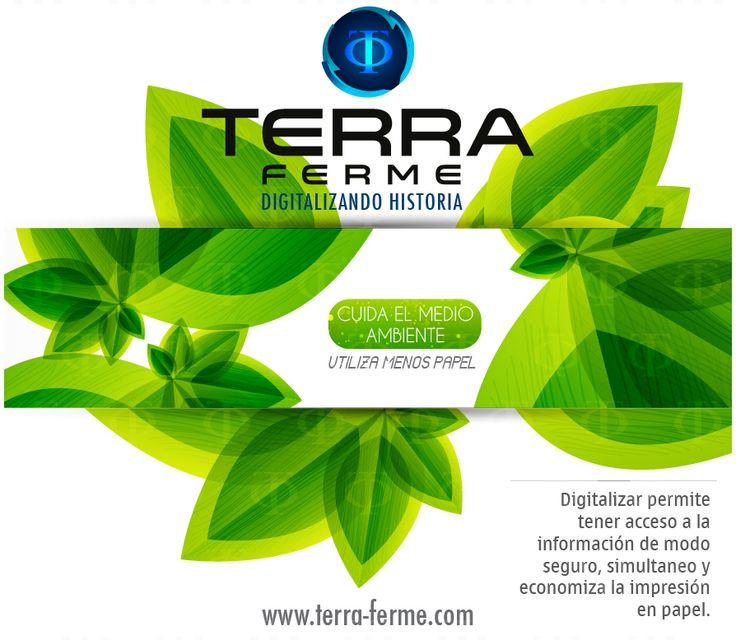 Crea una nueva forma de pensar y de actuar Ayuda con el medio ambiente Cambiando con tu diario vivir Yo soy #TerraFerme comprometido con el medio ambiente www.terra-ferme.com