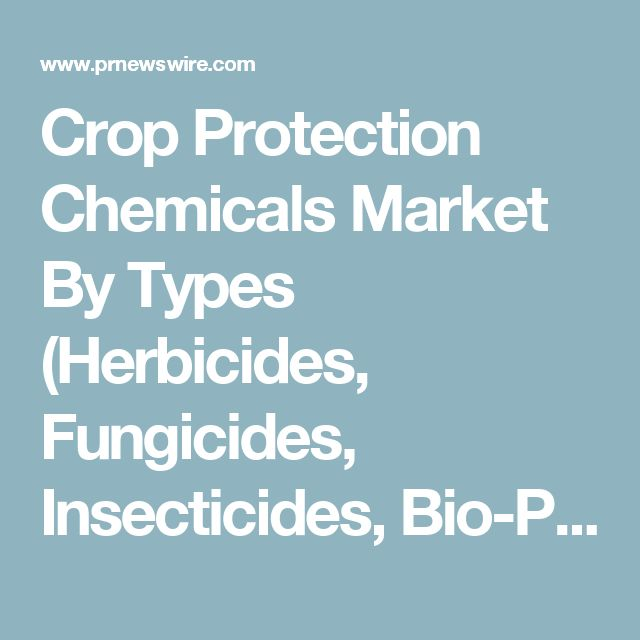 Crop Protection Chemicals Market By Types (Herbicides, Fungicides, Insecticides, Bio-Pesticides and
