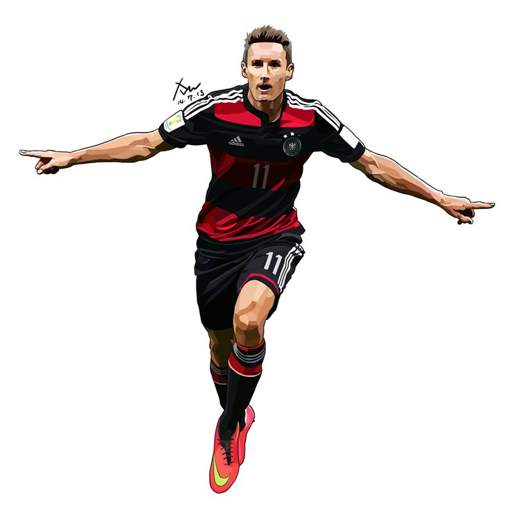 Miroslav Klose in 2014 Brazil Worldcup. Traced by Photoshop. 15cm X 15cm