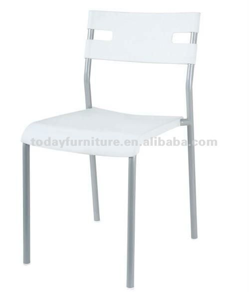 Modern stacking plastic chair with metal legs dc825 today buy stack