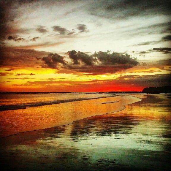 Amazing sunset in Santa Catalina, Panama.