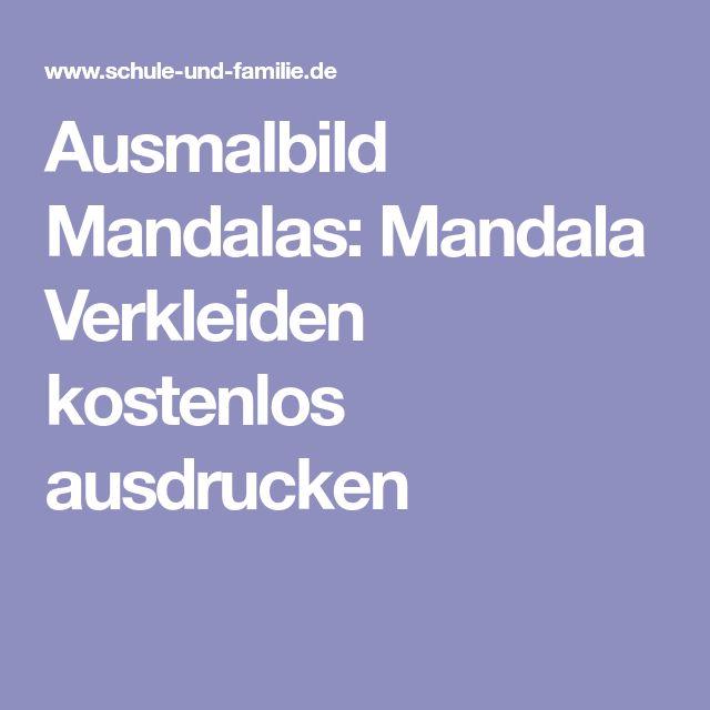 Ausmalbild Mandalas: Mandala Verkleiden kostenlos ausdrucken