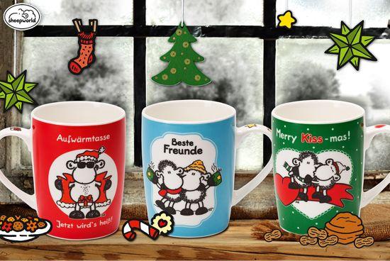 sheepworld Tassen für die Adventszeit! http://shop.sheepworld.de/shop/