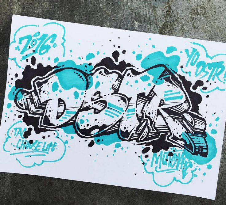 Graffiti BlackBook : Drawing Sketches BlackBook 3D Letter Graffiti ...