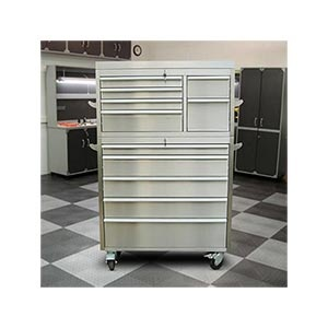"TRINITY 41"" Stainless Steel Tool Chest - not bad for the price.  Every real man's garage needs a tool chest like this"