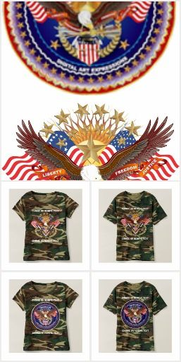 "Camouflage Patriotic Veteran ApparelThe Cost of a single Design $100.00 to $500.00, Your cost ""FREE on Zazzle""why? because you don't have to pay for my services!"