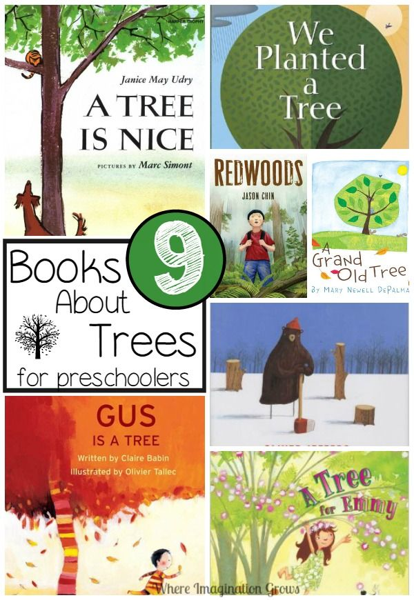 children's books about trees for kids! Fun books for preschoolers that teach them about trees and the environment