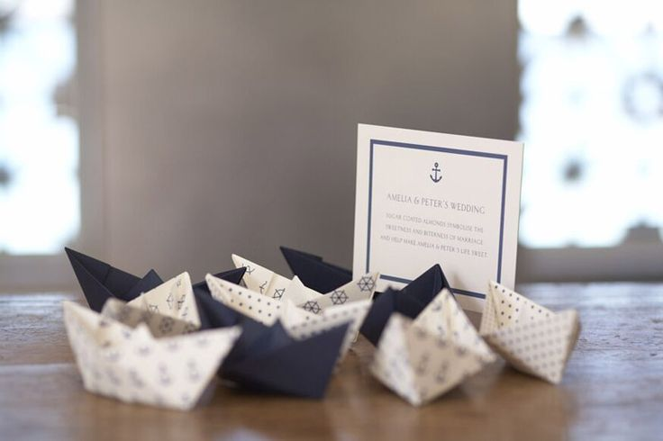Paper boats and motif card by Papier D'Amour