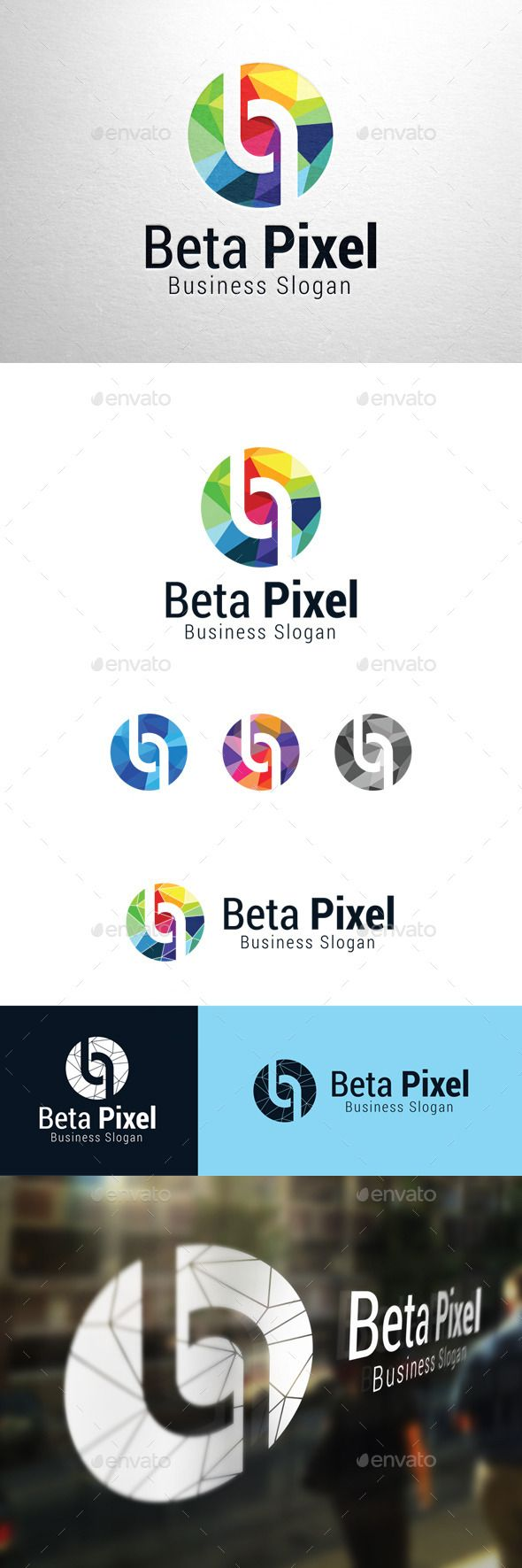 Beta Pixel Letter p & b - Logo Design Template Vector #logotype Download it here: http://graphicriver.net/item/beta-pixel-letter-p-b-logo/11184471?s_rank=792?ref=nesto
