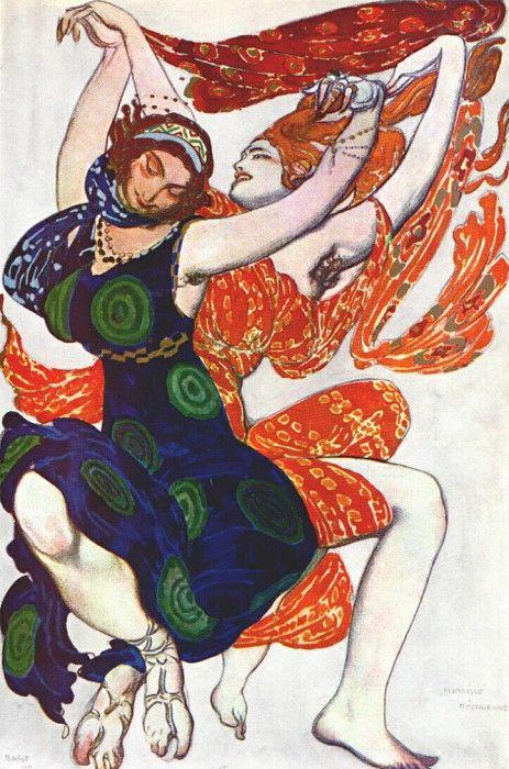 Нарцисс Две дикарки 1911. Леон Бакст