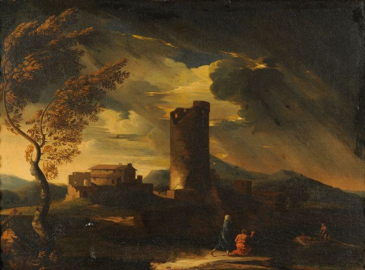 landscape paintings 18th century   of Gaspar Poussin (Gaspar Dughet) (18th century) Classical Landscape ...