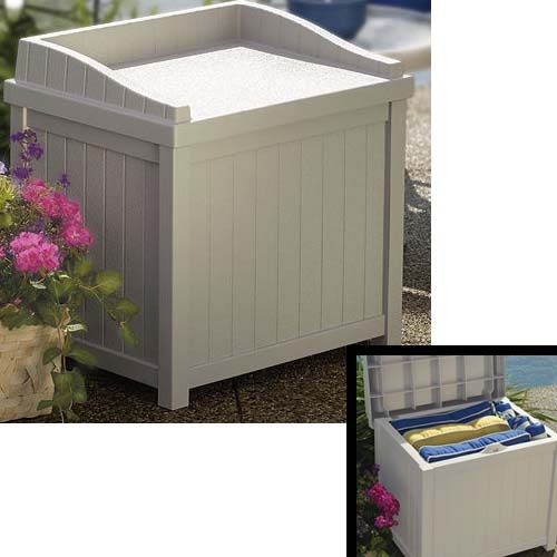 22 GALLON DECK STORAGE BOX WITH SEAT
