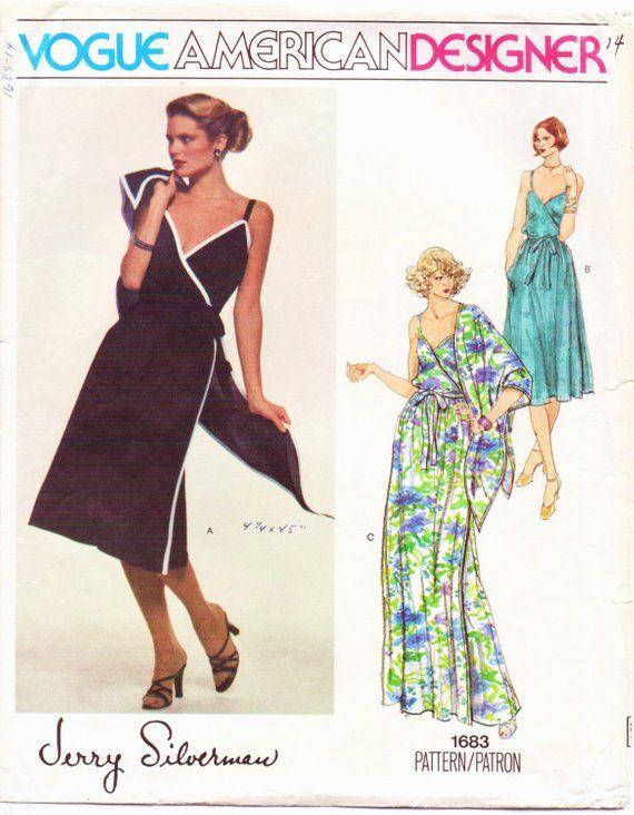 3b5cac3eab 1970s Jerry Silverman Womens Boho Dress   Shawl Vogue Sewing Pattern 1683 Size  14 Bust 36