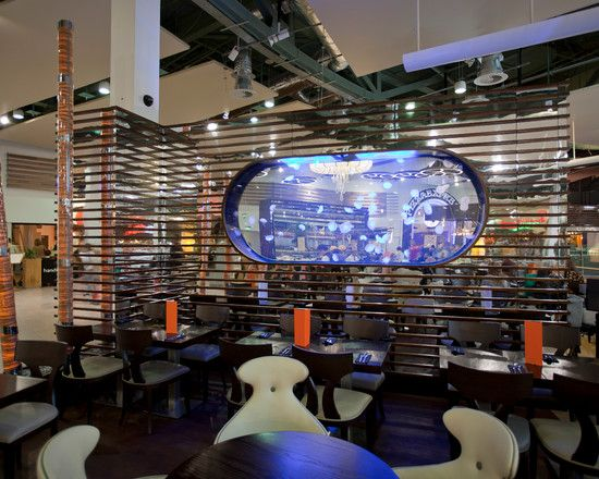 Powerful Restaurant Interior Design Of Chaobaby Birmingham Decorated With Contemporaray Furniture Design In Wooden Material