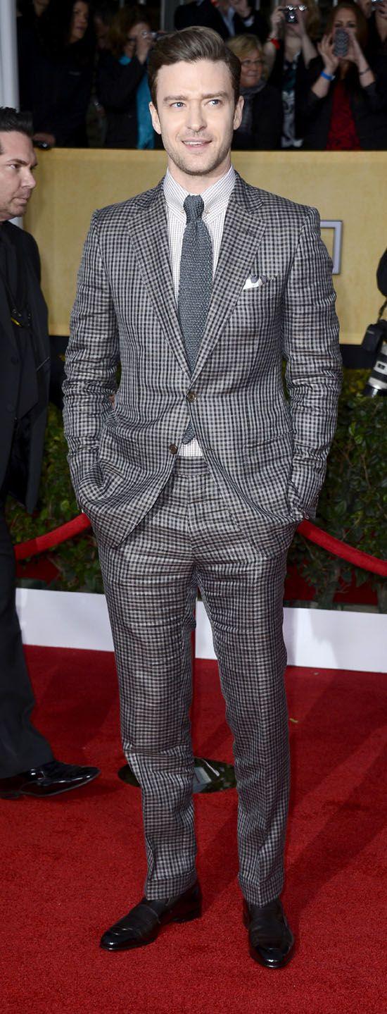 Джастин Тимберлейк на SAG Awards в неудачном клетчатом костюме