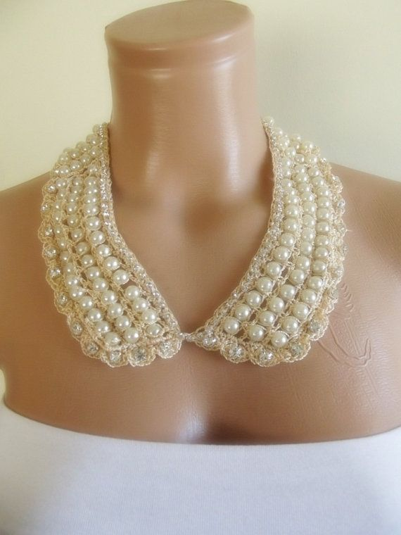 hand crochet detachable peter pan collar necklace by trendycollars, $22.90