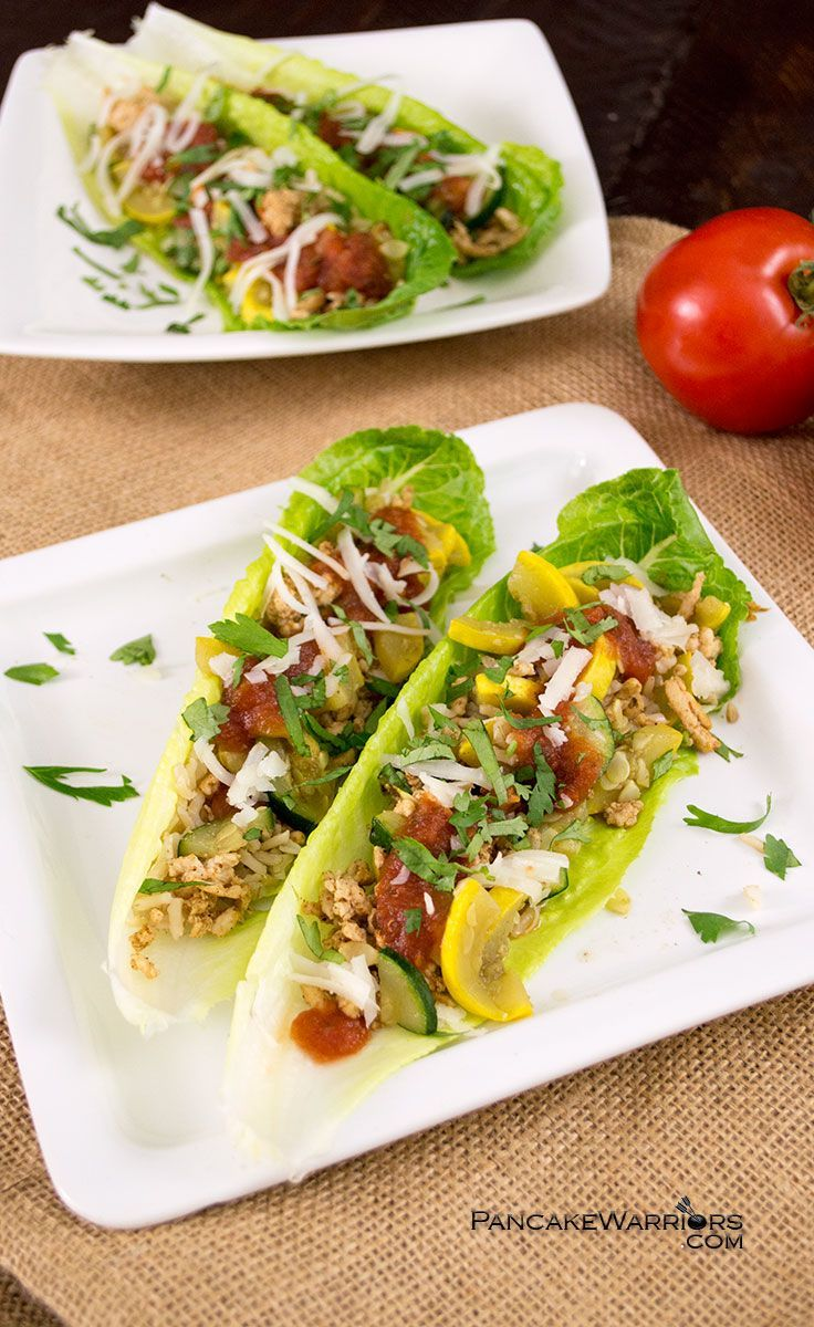 These Mexican Turkey Lettuce Wraps are such a simple dinner idea! Naturally gluten free, low fat, and easy to make, these lettuce wraps area family favorite and kids love them! | www.pancakewarriors.com: