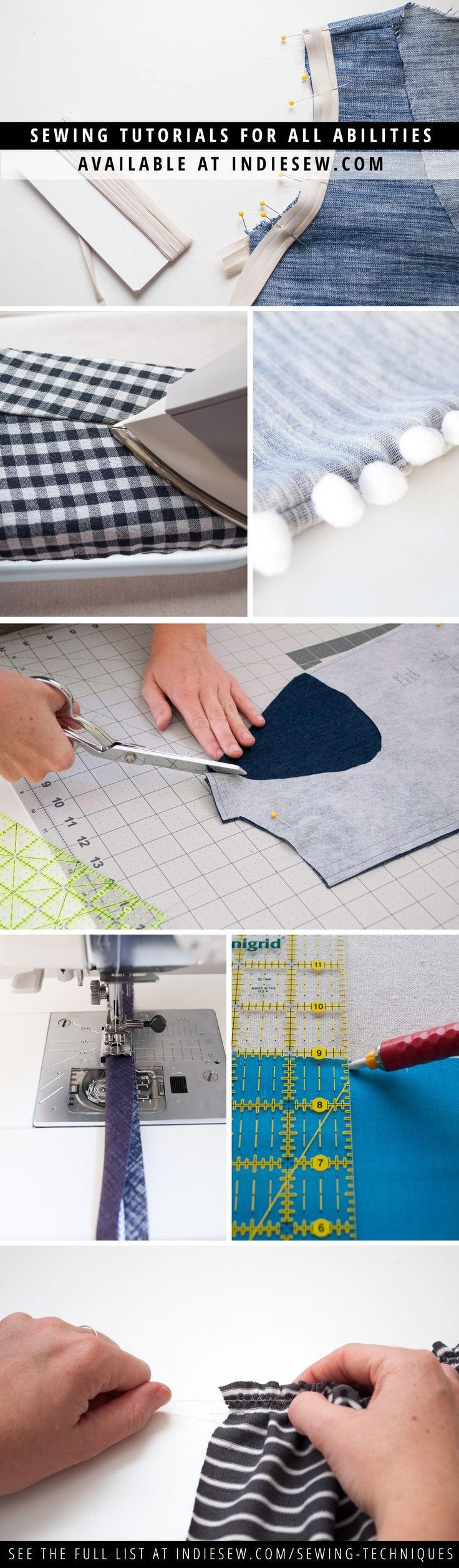 Are you new to sewing? Or a seasoned pro who just needs to work on a few skills? Learn sewing techniques including beginner, intermediate, knits & wovens. | Indiesew.com