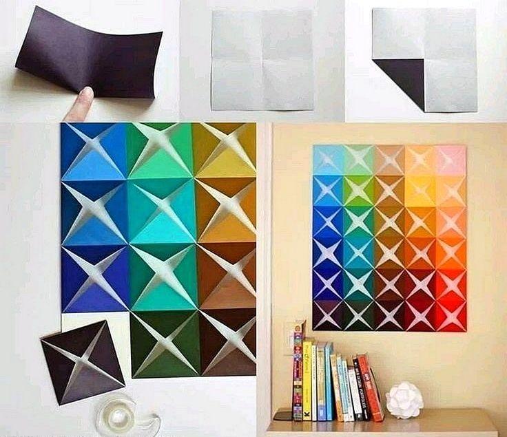 Ide Cara Membuat Hiasan Dinding Kamar Dari Kertas Origami
