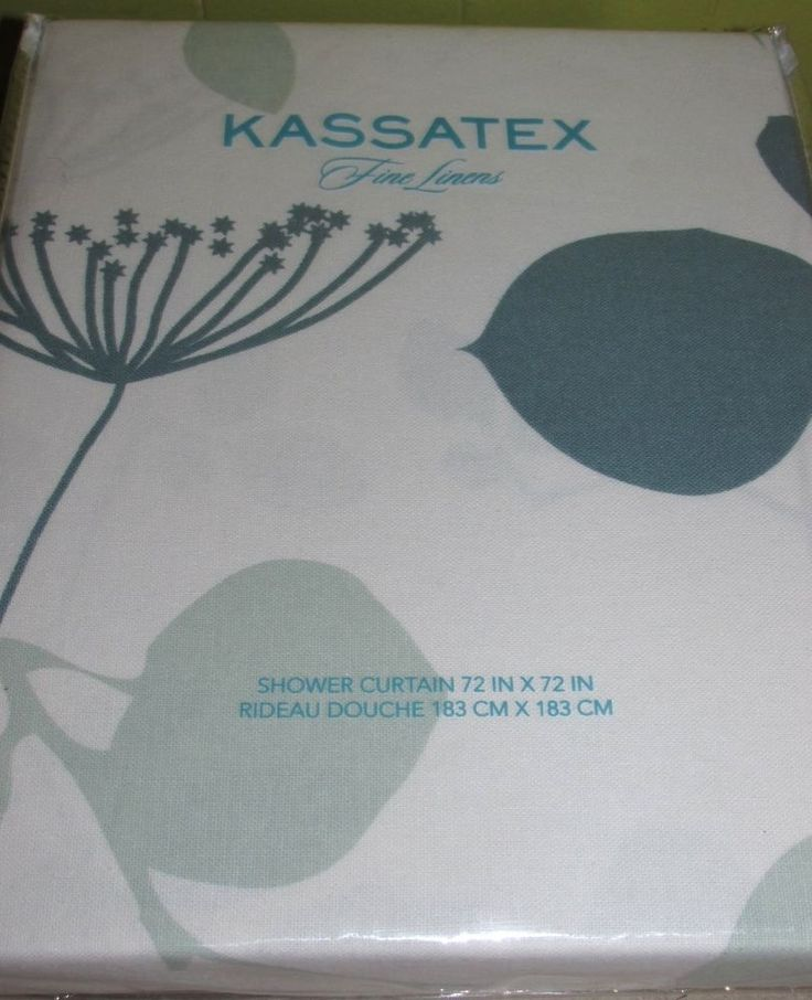 kassatex shower curtain cotton giardino spa blue leaves pale teal kassatex traditional
