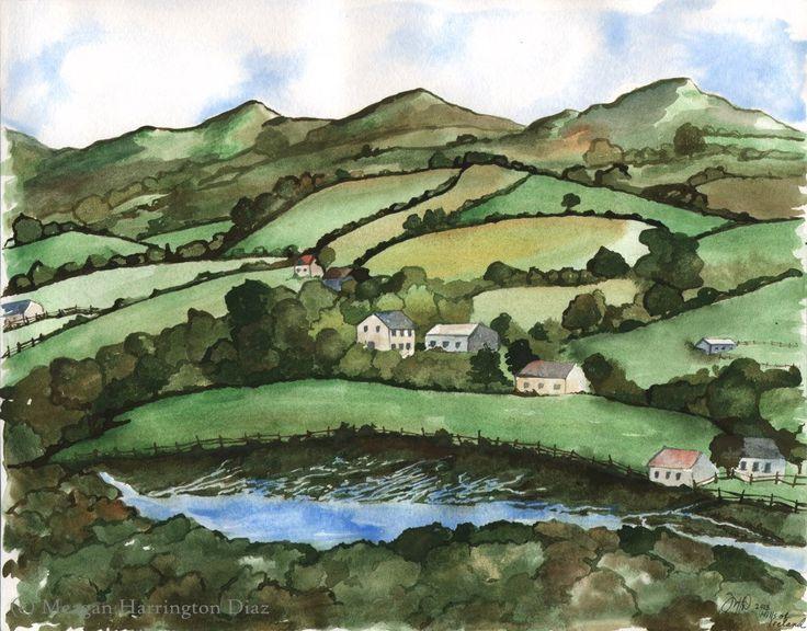 Ireland Landscape Hills Of Ireland Fine Art Print