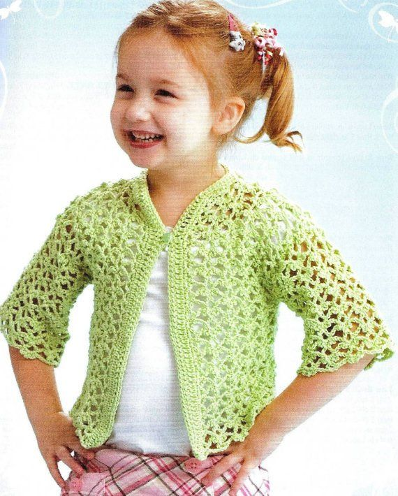 af96dc889da Crochet Lacey Cardigan Vintage Pattern Toddler sweater ohhhbabybaby  beach  lace spring pullover clot