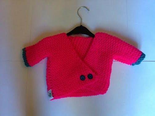 Jersey para bebé en telar de Saskia F.