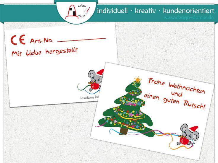 #Weihnachtskarten mit #CE-Zeichen DIN A8