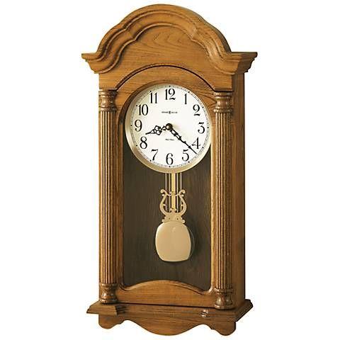 Amanda 25 1 4 High Pendulum Wall Clock With Music Chimes 2j049 Lamps Plus Howard Miller Wall Clock Pendulum Wall Clock Chiming Wall Clocks