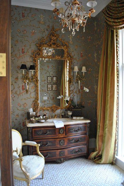 Gorgeous gorgeous powder room decorating ideas for Gorgeous powder rooms