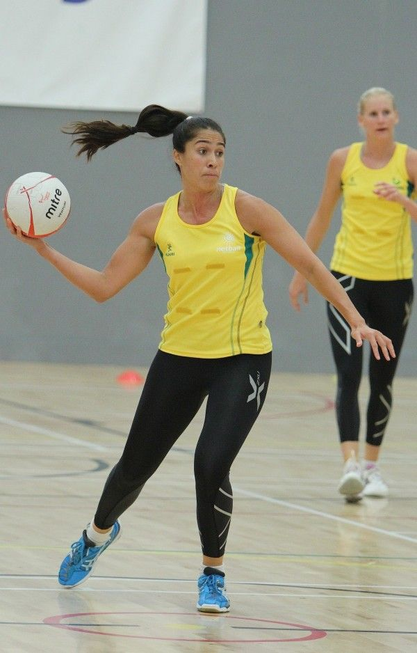 Mo'onia Gerrard at training prior to the 2nd Test against England.