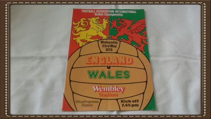 Football programme - Football association international British championship England v Wales Wednesday 23rd May 1979 by brianspastimes on Etsy