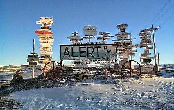 Eenzame plaatsen in de wereld: Alert, Nunavut (Canada)