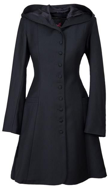 Poppins http://ecouture.dk/oberteile/poppins.html?___store=gb&___from_store=gb  ELEGANT AND FEMININE COAT MADE FROM A LUXURIOUS WOOL. The coat is lined with a soft bamboo-silk. Poppins has silk-covered buttons at the front, a hood and an elasticated panel at the back.