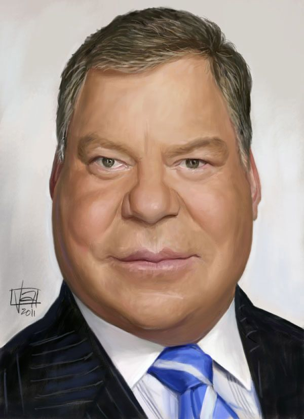 Caricatura de William Shatner.