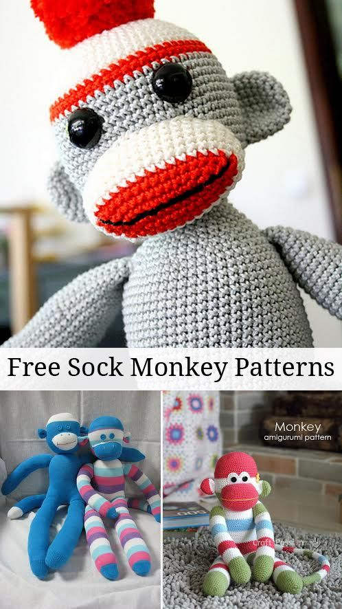 Collection of Free Sock Monkey Patterns From Around the Web!