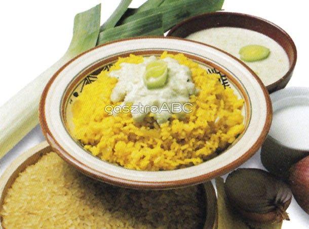 Barna rizs hagymás besamelmártással   Receptek   gasztroABC