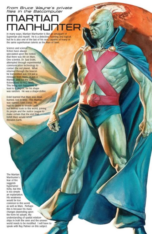 Martian Manhunter Info Page - Alex Ross