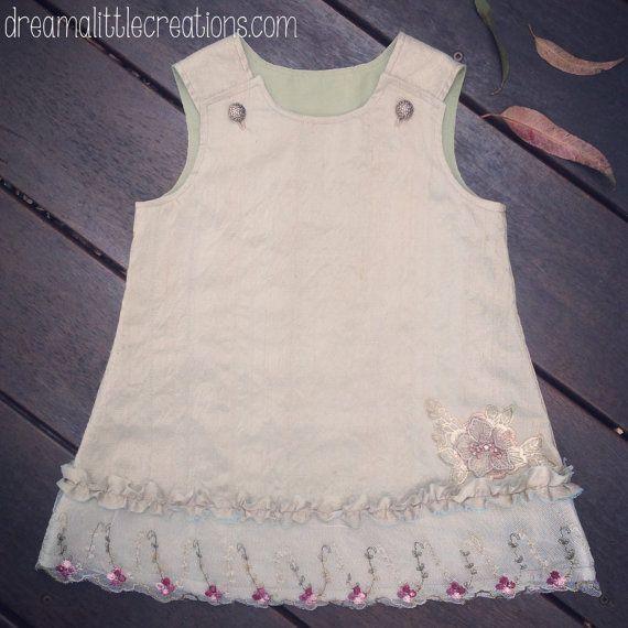 Crushed silk lace earth princess vintage by dreamalittleshoppe