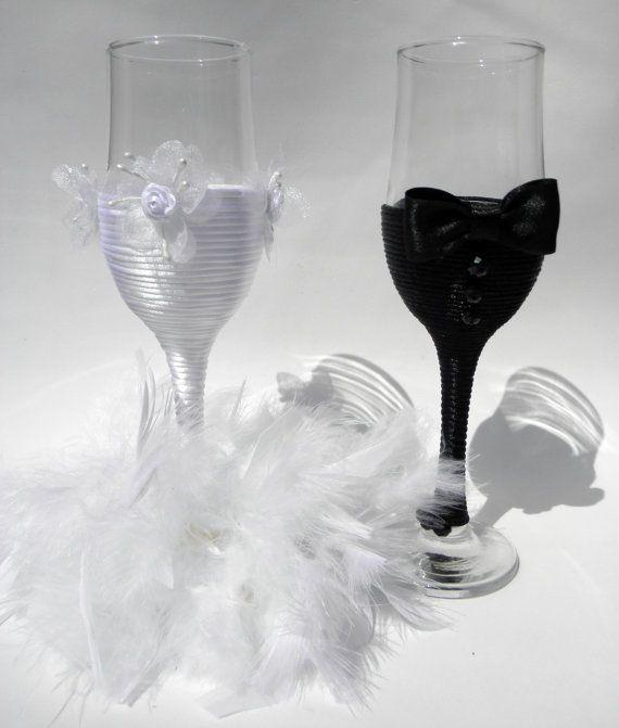 Wedding Champagne Glasses Bridal Wedding Decor Centerpiece For The Groom Wedd
