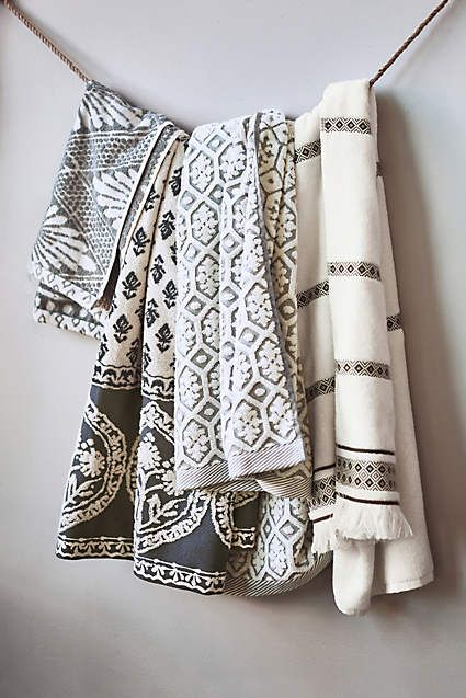 Stone Carvings Towel Collection - anthropologie.com
