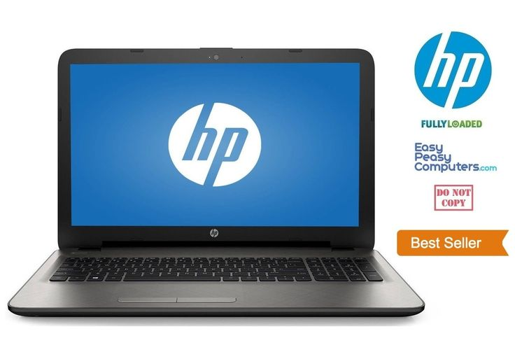 "NEW HP Laptop Computer 15.6"" Windows 10 500GB 8GB Webcam DVD+RW WiFi (FULLY LOADED) - EasyPeasyComputers"