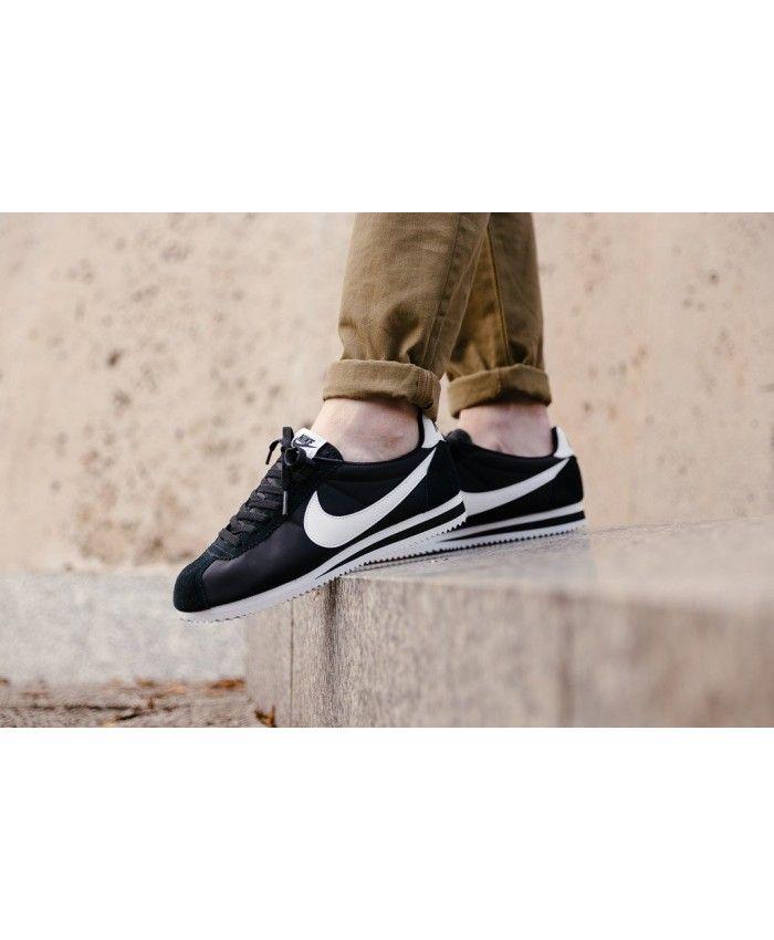 online retailer 954c0 301fb Homme Nike Cortez Classic Noir Blanc