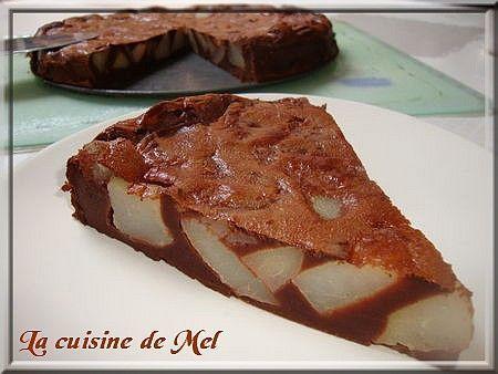Clafoutis de chocolate / pêra