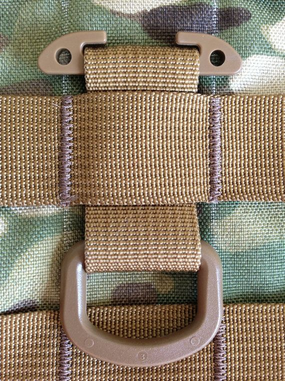 Tactical Tan T-Ring Webbing Adaptor for molle/pals/acu/emt/military